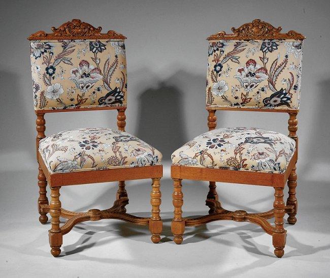 American renaissance carved oak bedroom suite lot