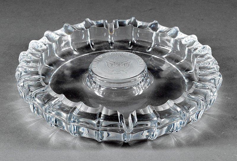 A United States Senate Glass Ashtray, Fostoria