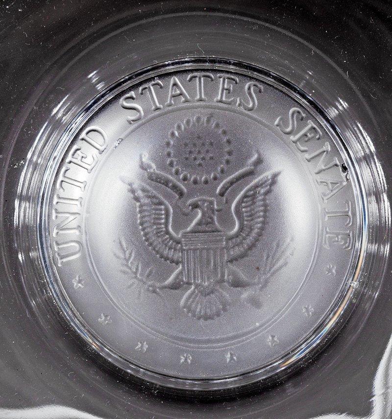A United States Senate Glass Ashtray, Fostoria - 2