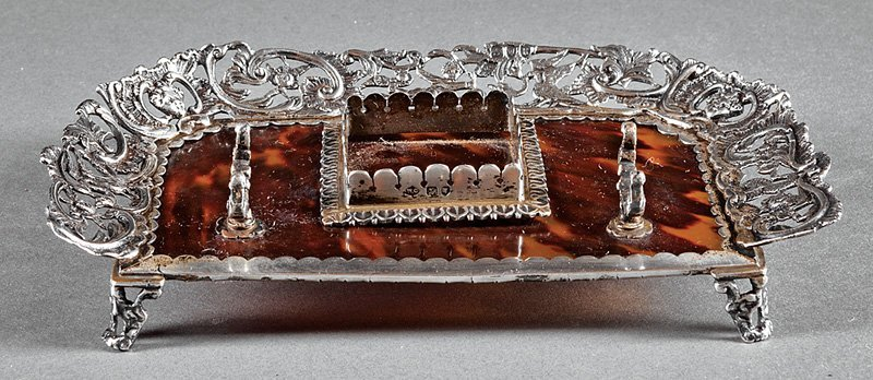 William Comyns & Son Sterling Silver Inkstand
