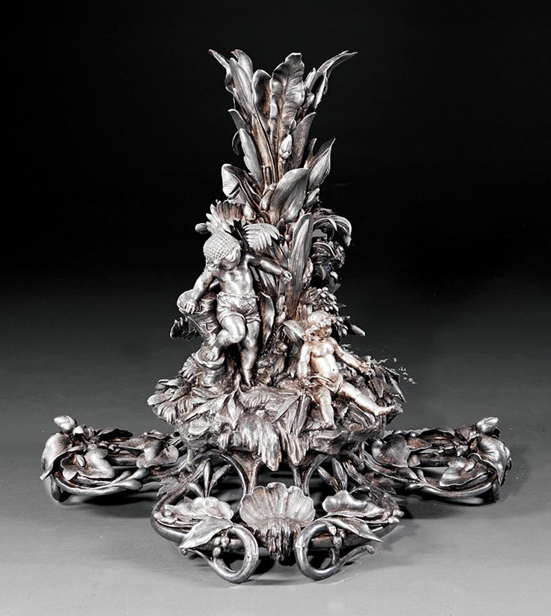 Christofle Silverplate Figural Stand