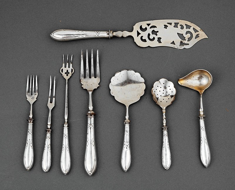 Imperial Russian Silver Serving Pieces
