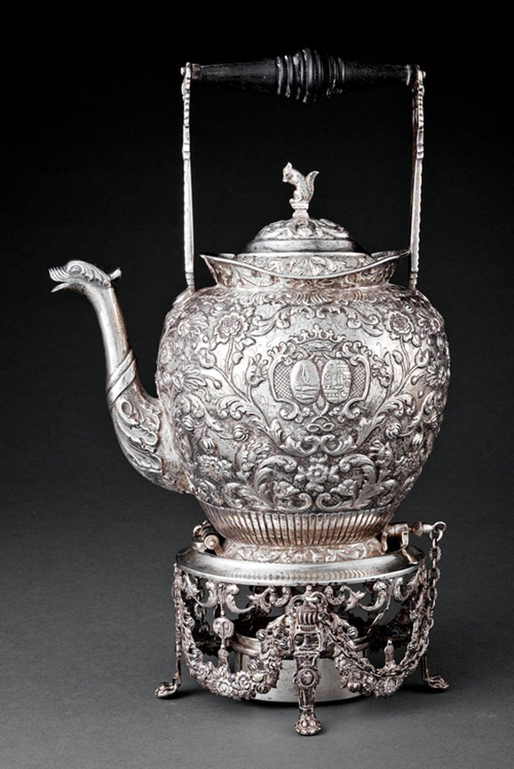 Dutch .833 Silver Kettle-on-Stand