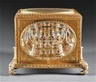 French Gilt Bronze and Glass Cave  Liqueur