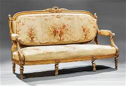 Louis XVIStyle Carved Giltwood Parlor Suite