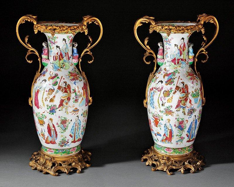 Napoleon III Chinese Porcelain Vases