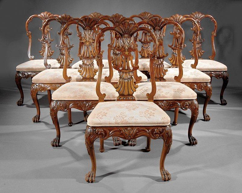 Twelve Georgian Revival Dining Room Chairs