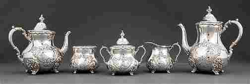 Poole Sterling Silver Coffee and Tea Service