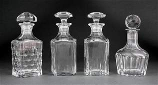 Three Baccarat Glass Decanters