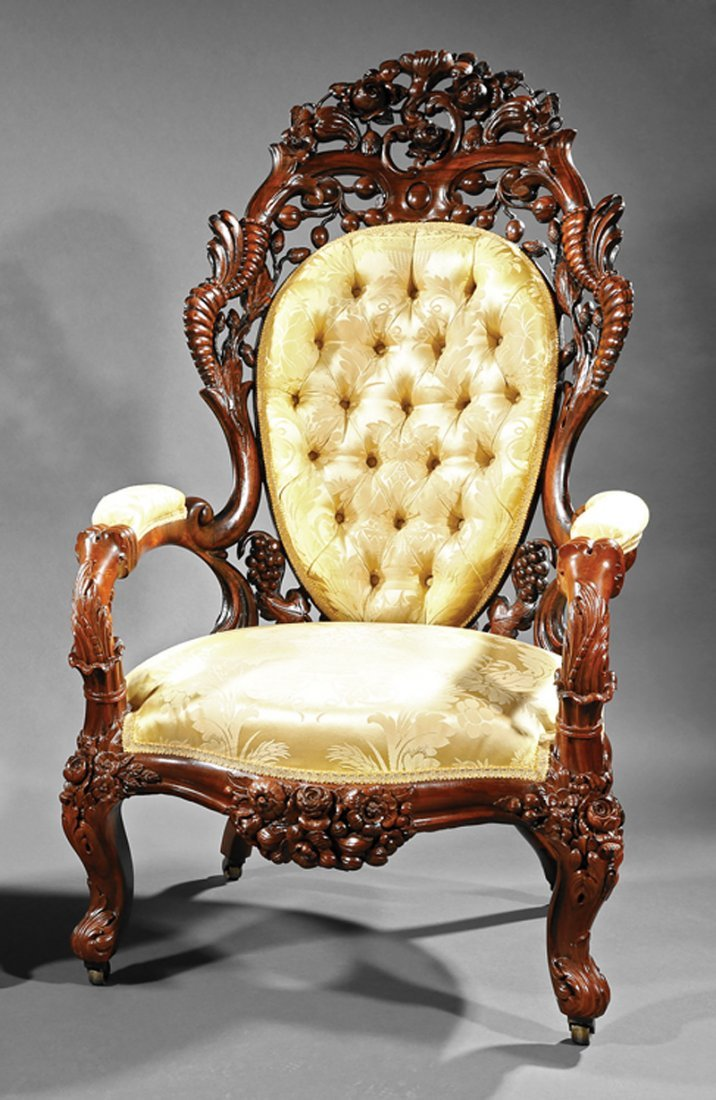 Armchair, attr. to John Henry Belter