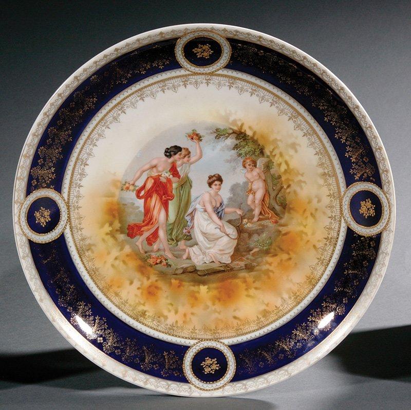 Dresden Porcelain Urn, SP Dresden mark - 7