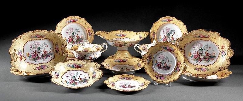 English Porcelain Partial Dessert Service