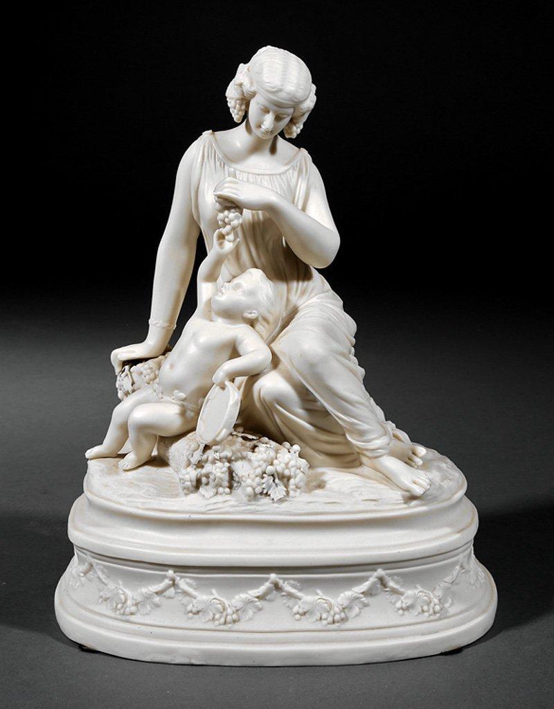 Parian Porcelain Figural Group