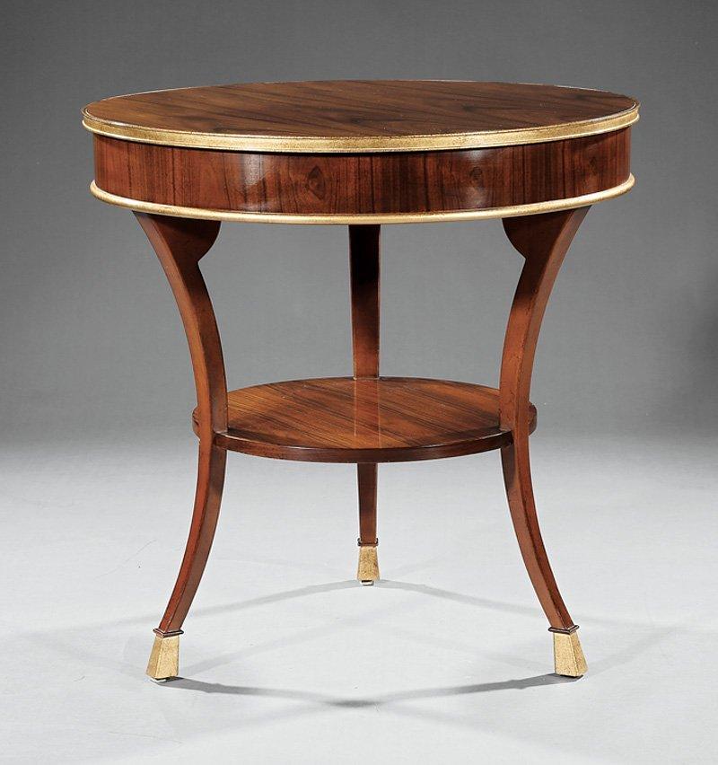 Baker Furniture Regency-Style Mahogany Gueridon