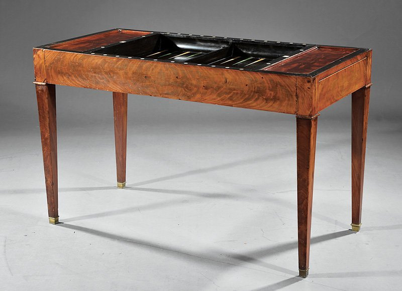 Louis Philippe Mahogany Tric-Trac Table - 2