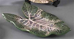 "A John Hodge Art Pottery ""Caladium"" Pl"