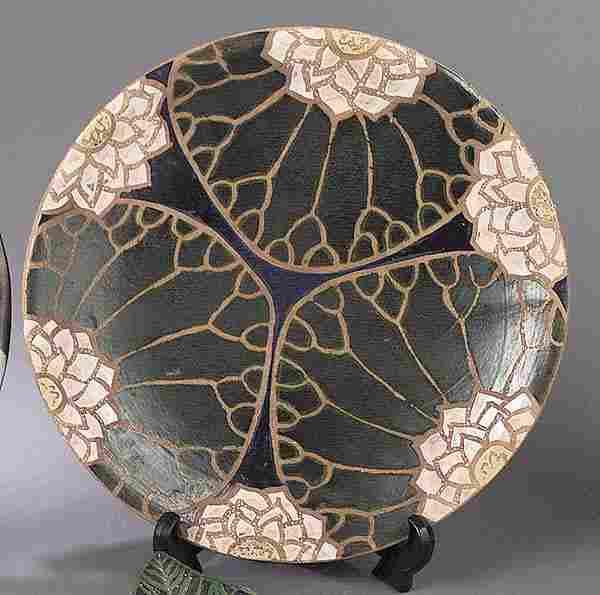 """729: A John Hodge Art Pottery """"Lilypad"""" Cha"""