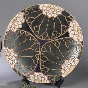 """A John Hodge Art Pottery """"Lilypad"""" Cha"""