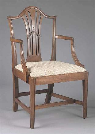 A Federal Mahogany Armchair in the Hep