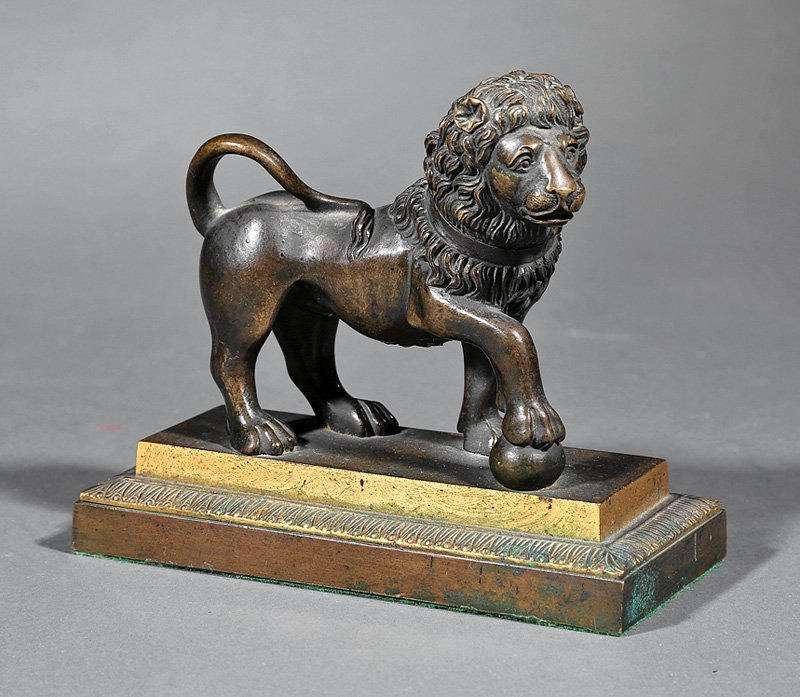 Continental Patinated Bronze Figure of a Lion