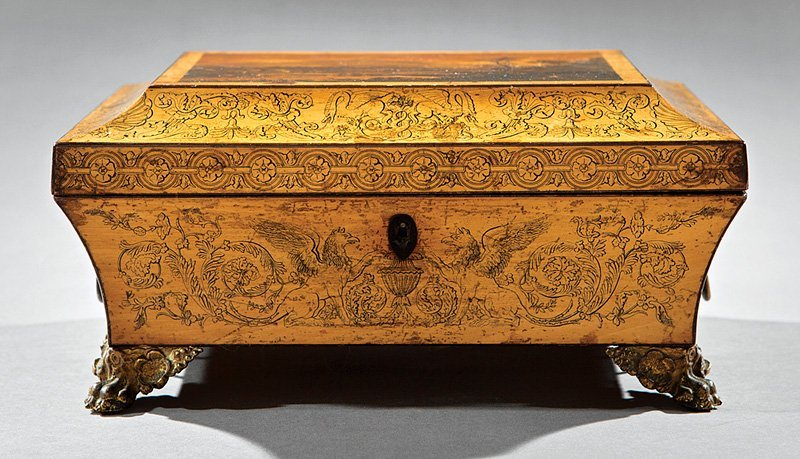Regency Penwork Dressing Box