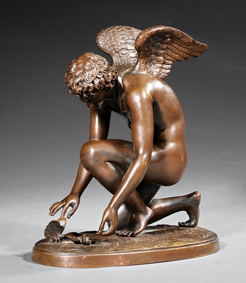 Bronze of Cupid Playing with a Butterfly, Chaudet