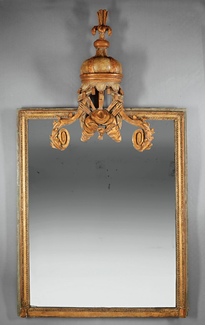 Verte Peinte and Gilt Mirror