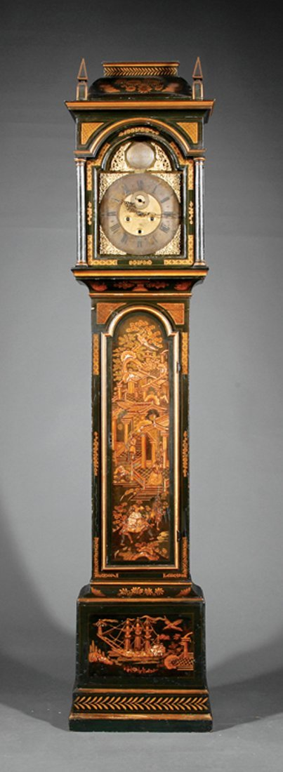 Chinoiserie Tall Case Clock, Horlock