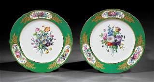 Ten Feuillet Paris Porcelain Dinner Plates
