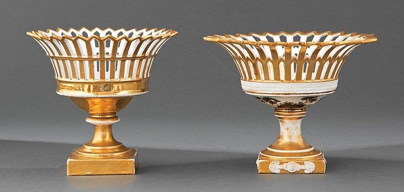 Two Paris Porcelain Corbeilles