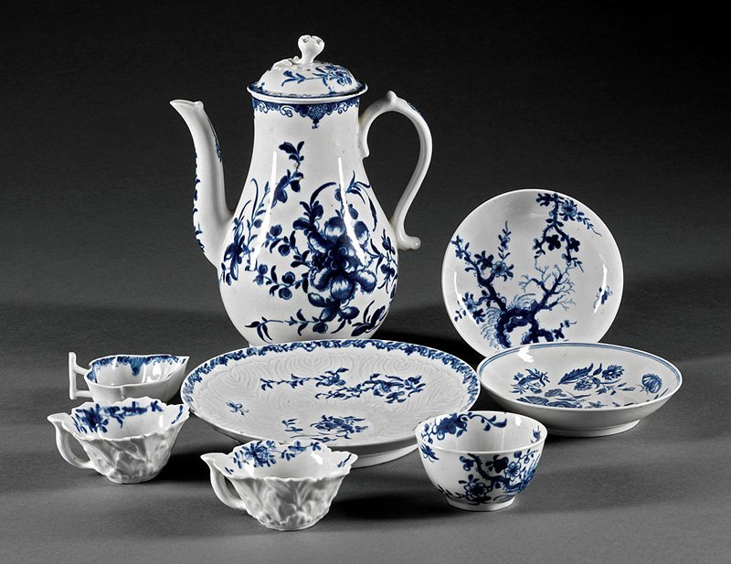 Group of Dr. Wall Worcester Tableware