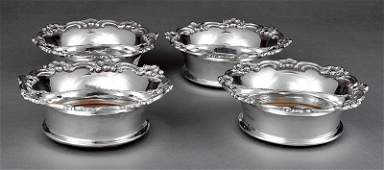 Set of Four Silverplate Wine Coasters