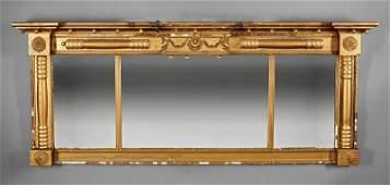 American Classical Gilt Overmantel Mirror