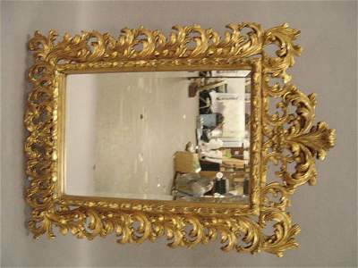 0356: A Giltwood Mirror , the beveled glass set within