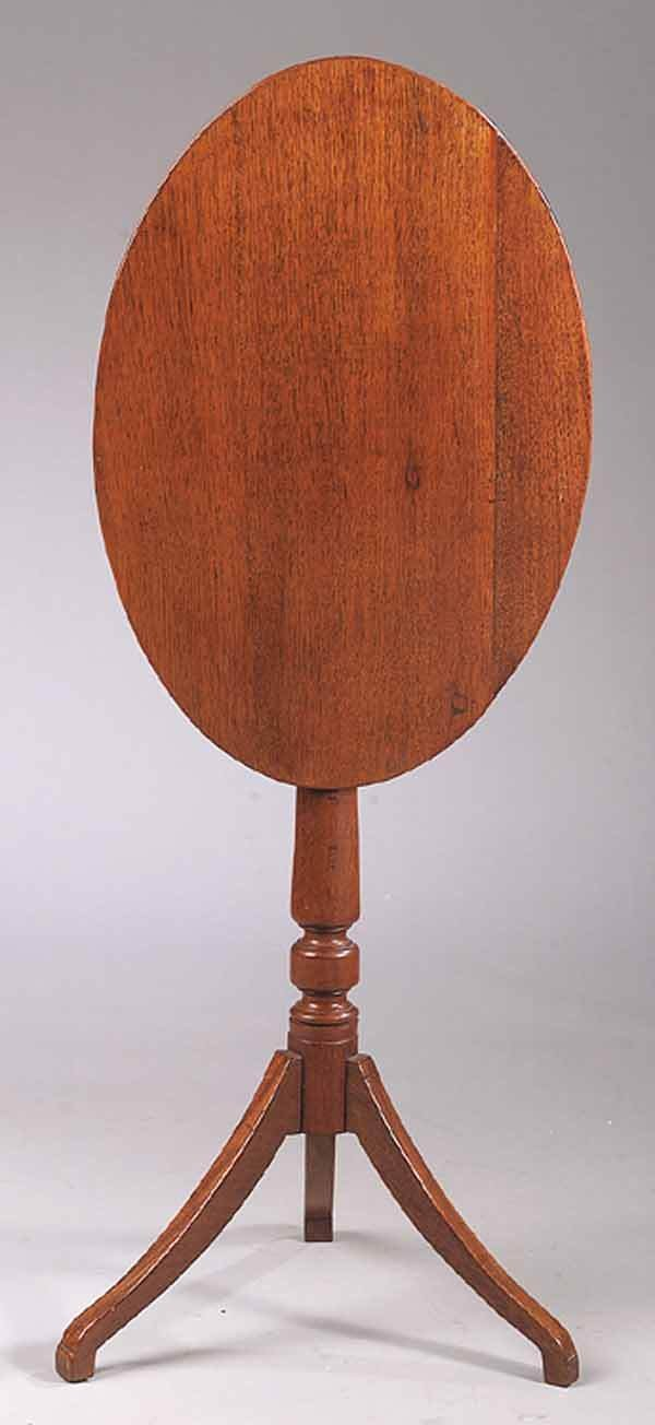 0001: American Federal Mahogany Candlestand