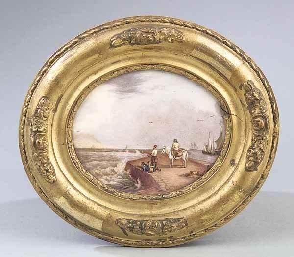 0006: Edward Lycett, enamled porcelain plaques