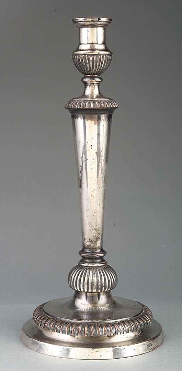 0017: Regency Sheffield Candlestick, Matthew Boulton, c