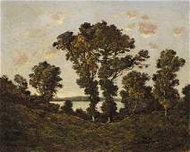 0165: Henri-Joseph Harpignies, French, oil on canvas, R
