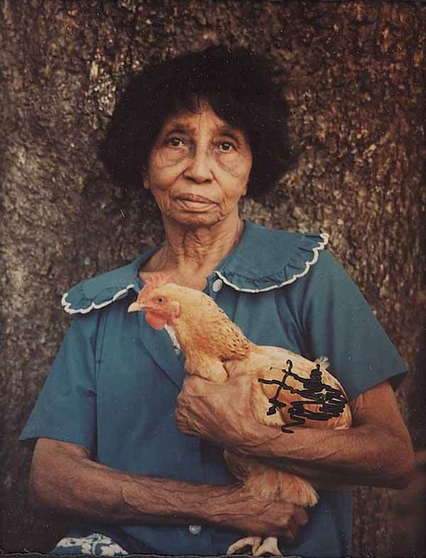 0659: Color Photograph of Clementine Hunter, Louisiana