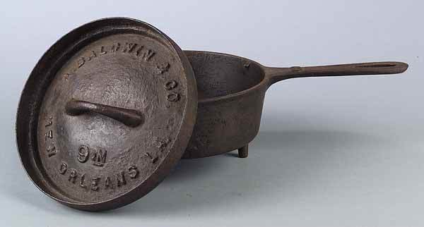 0664: New Orleans Cast Iron Lidded Pot, Baldwin & Co.