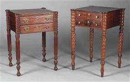 0920: Two American Federal Mahogany Work Tables