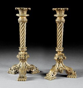 Renaissance Revival Bronze Candlesticks