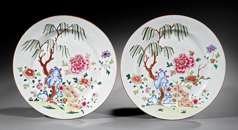 Chinese Export Famille Rose Porcelain Chargers