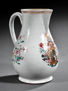 Chinese Export Famille Rose Porcelain Jug