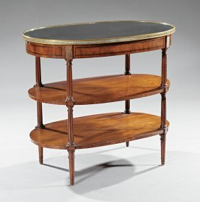 Directoire-style Brass And Mahogany Desserte