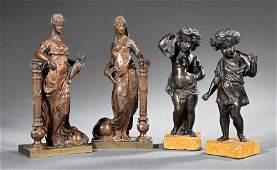 ommedia dell Arte Female Figures beside Columns
