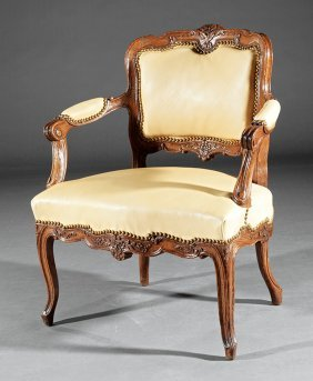 Regence-style Carved Walnut Armchair