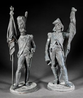 French Patinated Zinc Napoleonic Soldiers