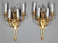 Gilt Bronze FourLight Sconces