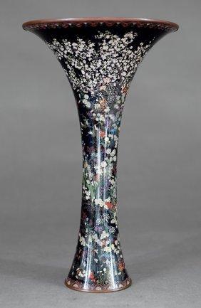Japanese Kumeno Teitaro Cloisonne Enamel Vase